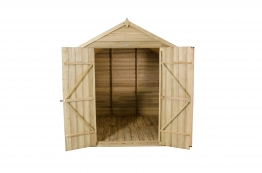 Overlap Pressure Treated Double Door Apex Shed 2133mm X 2133mm