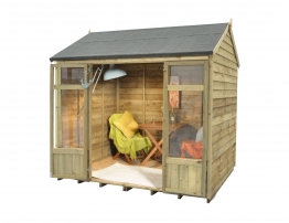Winchcombe Summerhouse Overlap Reverse Apex Pressure Treated 2438mm X 1828mm