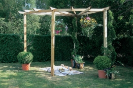 Pressure Treated Timber Radial Pergola 90 Deg