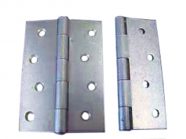 4trade Butt Hinges Fixed Pin Self Colour 100mm Pack Of 2