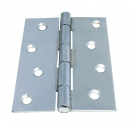 4trade Butt Hinge Chrome Plated Fixed Pin 102mm Pack Of 2
