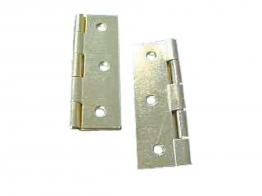 4trade Butt Hinges Fixed Pin Electro Brass 75mm Pack Of 2