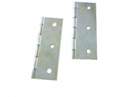 4trade Polished Brass Double Steel Washered Hinge 75mm X 50mm Pack Of 2