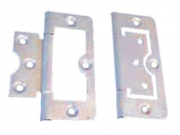 4trade Hinges Flush Zinc Plated 75mm Pack Of 2
