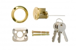 4trade Replacement Cylinder 3 Keys Polished Brass