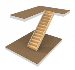 Whitewood Closed Tread Staircase (scotland)