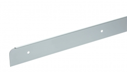 Homelux Kitchen Worktop End Trim Satin Aluminium 630mm No19