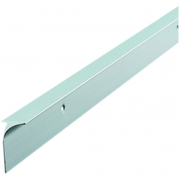 Unika 40mm Silver Worktop Aluminium Corner Joint 630mm/6mm Radius C40slp5mm