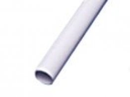 Osma 21.5mm X 3m Solvent Weld Overflow Plain Ended Pipe White Abs