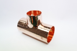 Jw Copper Endfeed Tee Reduced Branch 42mm X 42mm X 35mm