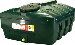 Harlequin 1200ite High Specification Bunded Low Profile Oil Tank Complete With Tankpack