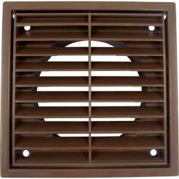 Iflo R1152w Louvered Grille Fixed White 100mm