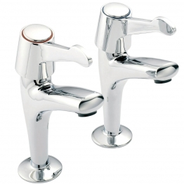 Pegler Mercia High Neck Sink Taps Quarter Turn Ceramic Disc Lever Pair