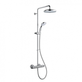 Mira Coda With Exposed Valve And Diverter Including Large Shower Head Chrome Finish Pro Erd