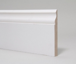 Mdf Moulded & Primed Ogee Skirting 18mm X 144mm X 4.4m