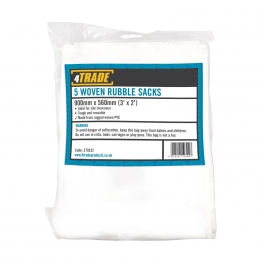 4trade Woven Rubble Sacks Pack Of 5