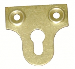 4trade Mirror Plates Slotted Electro Brass 50mm (pack Of 4)