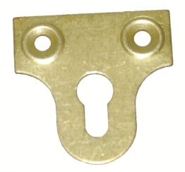 4trade Mirror Plates Slotted Electro Brass 38mm (pack Of 4)