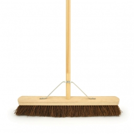 4trade Bassine Broom With Metal Support Bracket With Handle 610mm