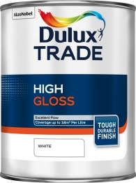 Dulux Trade High Gloss Paint White 1l