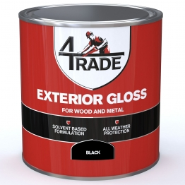 4trade Exterior Gloss Paint Black 1l