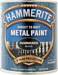 Hammerite Metal Paint Hammered Black 750ml