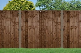 Pressure Treated Fence Panel Brown 1828mm X 1828mm