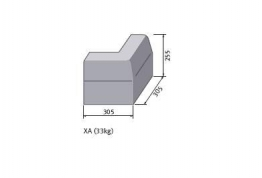 Bs Concrete Kerb Half Battered External Corner Hbxa Rk5100000 125mm X 255mm