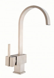 Iflo Malaren Brushed Steel Monobloc Kitchen Tap