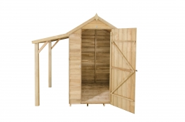 Overlap Pressure Treated Apex Shed With Lean To 1219mm X 1829mm