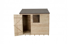 Overlap Pressure Treated Reverse Apex Shed 2438mm X 1829mm