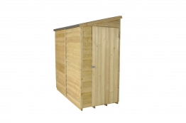 Overlap Pressure Treated Pent Shed 1829mm X 914mm
