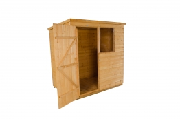 Shiplap Dip Treated Pent Shed 1829mm X 1219mm