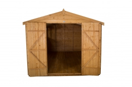 Shiplap Dip Treated Double Door Apex Shed 2438mm X 3657mm