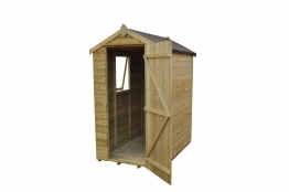 Tongue And Groove Pressure Treated Apex Shed 1219mm X 1829mm