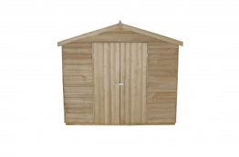 Overlap Pressure Treated Double Door Apex Shed 2438mm X 3658mm