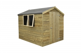 Tongue And Groove Pressure Treated Apex Shed 1828mm X 2438mm