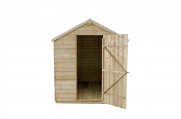 Overlap Pressure Treated Apex Shed No Windows 1829mm X 2438mm