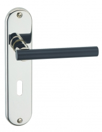 Poitiers Lever Lock Polished Nickel With Black Barrel 5490/5255/04e Lk