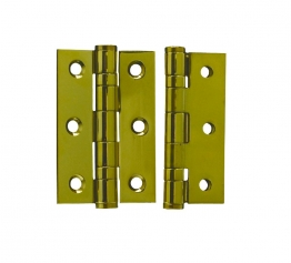 4trade Hinge 2 Ball Bearing Pvd Brass Plated Grade 7 75mm X 50mm X 2mm