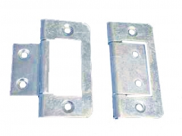 4trade Hinges Flush Zinc Plated 50mm Pack Of 2