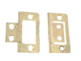 4trade Hinges Flush Electro Brass 38mm Pack Of 2