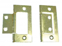 4trade Hinges Flush Electro Brass 50mm Pack Of 2