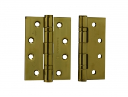4trade Hinge 2 Ball Bearing Bsen 1935 100 X 75 X 3mm Polished Brass (pack Of 2)