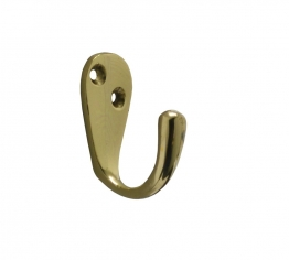 4trade Wardrobe Hook Brass 50mm