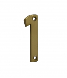 4trade Numeral 1 Face Fix 75mm Brass