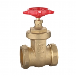 Brass Gate Valve Wheel Head Bs5154 54mm