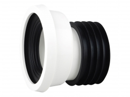Easy-fit Pan Connector Offset 4 White Wc204