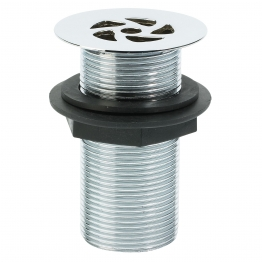 Embrass Peerless 201433 1 1/4in Flush Grated Waste Slottedd 2 7/16in Flange 89mm Tail Chrome Plated