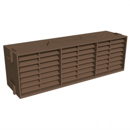 Manthorpe Combination Airbrick Brown 9in X 3in